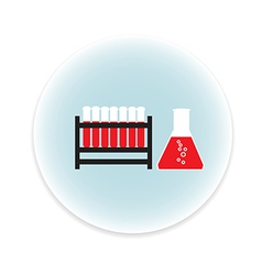 Test tube with blood vector image