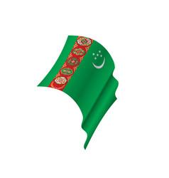Turkmenistan flag vector