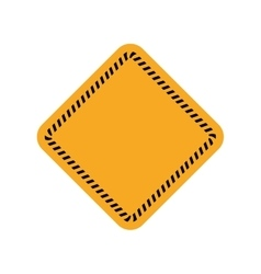 Road sign banner warning construction icon vector