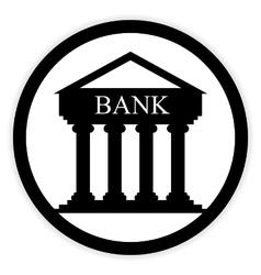 Bank button on white vector