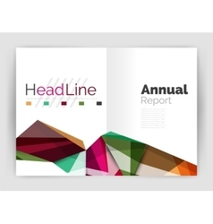 Triangles and lines annual report flyer brochure vector