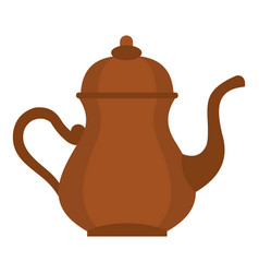 Oriental turkish kettle for tea icon isolated vector