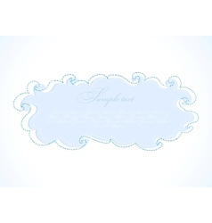 Abstract blue cloud frame vector