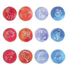 Watercolor Zodiac set vector image