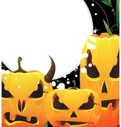 Terrible Jack o Lanterns vector image