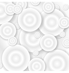Abstract grey 3d circles background vector image