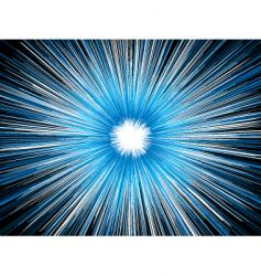 Explosion blue vector
