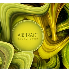 abstract background with green waves vector image