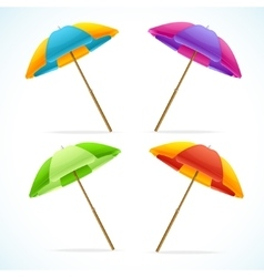 Beach umbrella set vector
