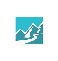 Mountain icon abstract logo vector