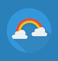 Weather flat icon rainbow vector