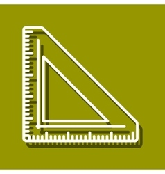 Triangular ruler vector