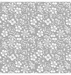 Stylized floral ornament vector