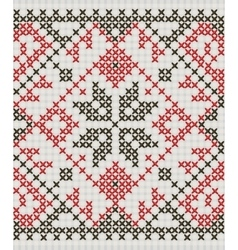 Ukrainian ethnic ornament - cross-stitch vector