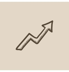 Arrow upward sketch icon vector