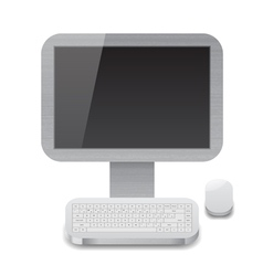 Icon for personal computer vector