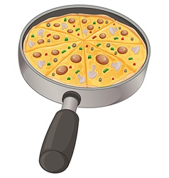 A pan with a pizza vector image vector image