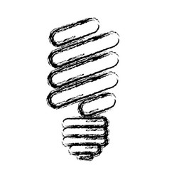 abstract sketch of fluorescent light bulb vector image