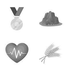 Agriculture sport and other monochrome icon in vector
