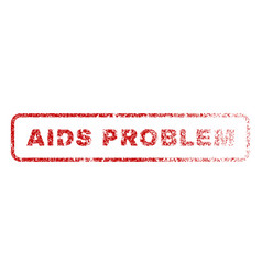 Aids problem rubber stamp vector