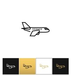 Air plane pictogram jet or aeroplane icon vector