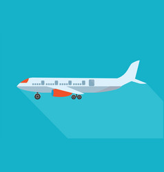 Aircraft flat design style vector