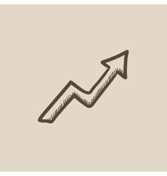 Arrow upward sketch icon vector image vector image