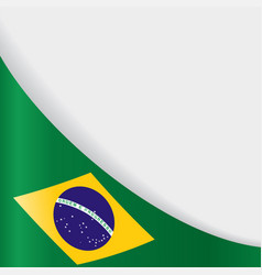 Brazilian flag background vector