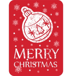 Christmas greeting card vintage vector