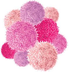 chunky bunch of pink baby girl birthday vector image