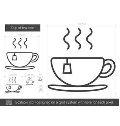 Cup of tea line icon vector
