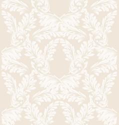 Damask pattern ornament decor baroque vector
