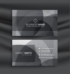 Dark business card template with abstract vector