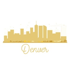 Denver city skyline golden silhouette vector