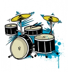 drum drawing vector image vector image
