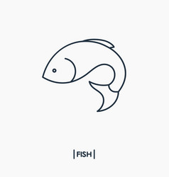 fish outline icon vector image
