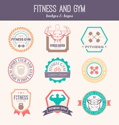 Fitness and Sport Gym Logos vector image