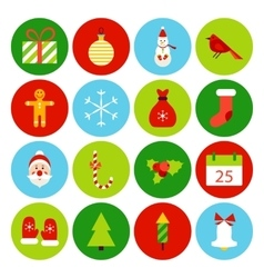 Flat christmas icons vector