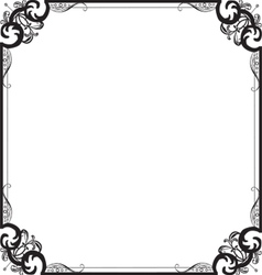 frame with a pattern vector image vector image