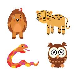 fun animals vector image vector image