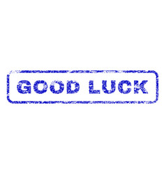 Good luck rubber stamp vector