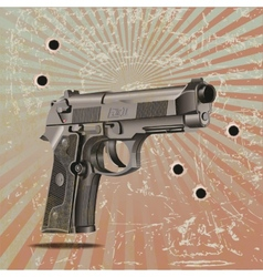 Handgun elite on vintage vector