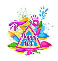Happy holi colorful background of vector