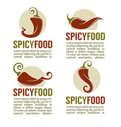 Hot chili pepper logo icons stickers and emblems vector