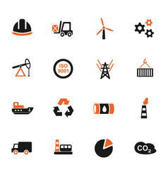 industry icon set vector image vector image