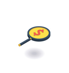 investment search icon vector image