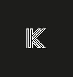 Letter k logo monogram initial logotype vector