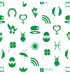 march month theme set of simple icons pattern vector image vector image