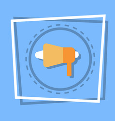 Megaphone icon loudspeaker web button vector