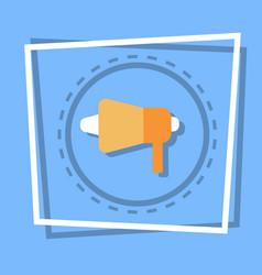 megaphone icon loudspeaker web button vector image vector image